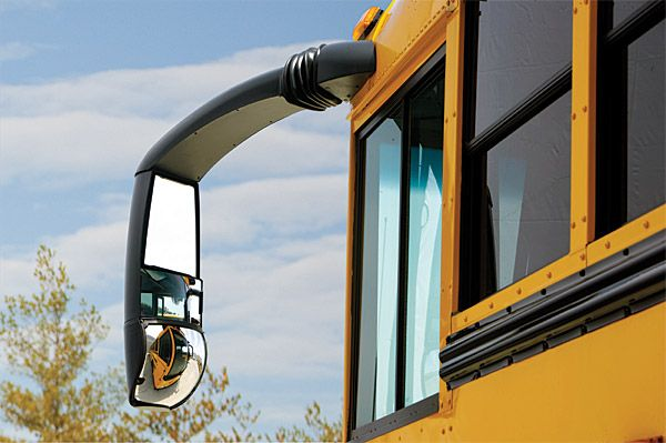 How To Fix Rear View Mirror >> Could Cameras Fix The Problem With School Bus Mirrors? - American Bus Sales